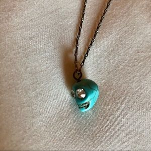 Francesca's turquoise skull necklace